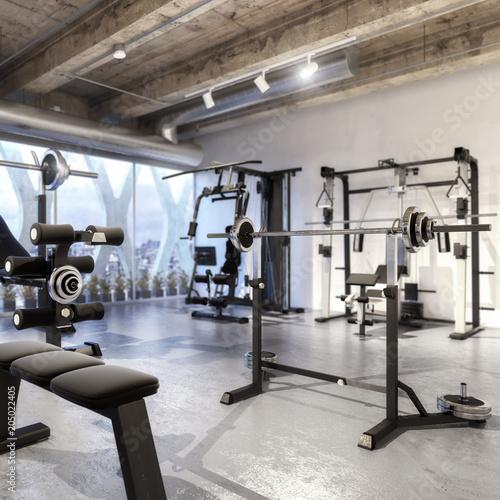 Poster Weights Training Equipment (focus)