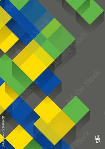 Plexiglas Abstractie Graphic illustration. Abstract background with geometric pattern. Eps10 Vector illustration