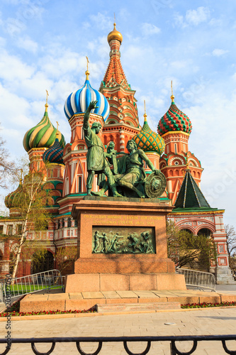 Plexiglas Moskou Saint Basil's Cathedral in Red Square at Moscow.