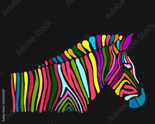 Obraz na płótnie Zebra, sketch for your design