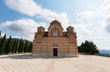 Beautiful view at Hercegovacka Gracanica.Orthodox church in Trebinje, Bosnia and Herzegovina