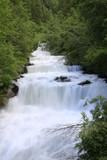 Wasserfall in Schlanders, softig, Südtirol, Italien, Europa