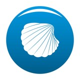 Nature shell icon. Simple illustration of nature shell vector icon for any design blue - 205076401