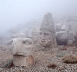 Ancient statues on the top of Nemrut mount, Anatolia, Turkey