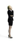 junge nachdenkliche Geschäftsfrau