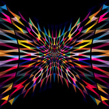 Abstract colorful geometric background. - 205095099