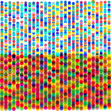 Colorful dots, circles abstract pattern background. Vector illustration. - 205100245
