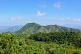 Mountain range over Haiti