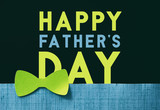 Father's Day vintage bow tie and paper craft graphic for the holiday.. - 205104461