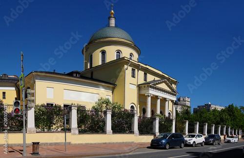 Plexiglas Moskou the landmark of Moscow: the temple