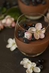 Spring chocolate panna cotta © Уля Корнеева