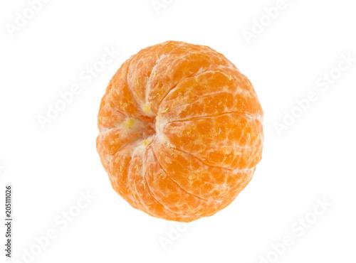 obrane mandarynka na białym tle