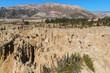 Stone formations in Valle de la Luna (Moon Valley) near La Paz, Bolivia