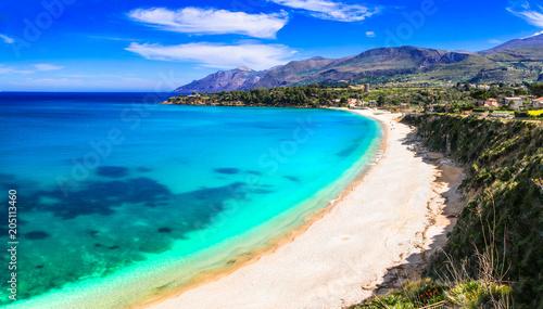 Aluminium Freesurf Vacation in Sicily island. Beautiful beach Scopello, Italy