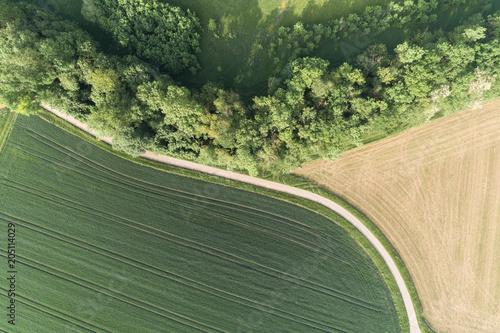 Aluminium Khaki Luftaufnahme der Glemstals in Baden Württemberg