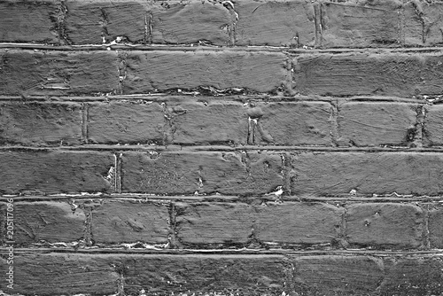 Canvas Stenen Brick texture with scratches and cracks