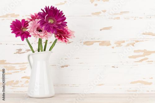 Fridge magnet Gerbera flowers bouquet
