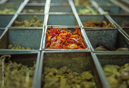 Plexiglas Konrad B. Picture of a lot of boxes full of spices