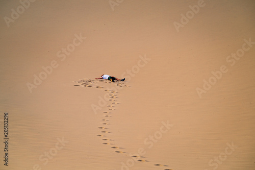 Aluminium Zee zonsondergang Mesquite Flat Sand Dunes