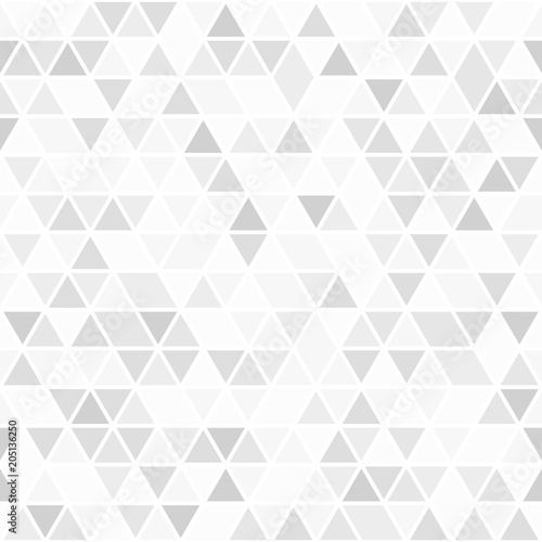 Fototapeta Geometric vector pattern with light triangles. Geometric modern ornament. Seamless abstract background