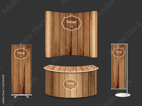Exhibition Stand Vintage : Blank trade show booth exhibition stand design mock up front view