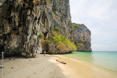 Plexiglas Beige Laoliang Island, Koh Laoliang, Trang Province, Thailand