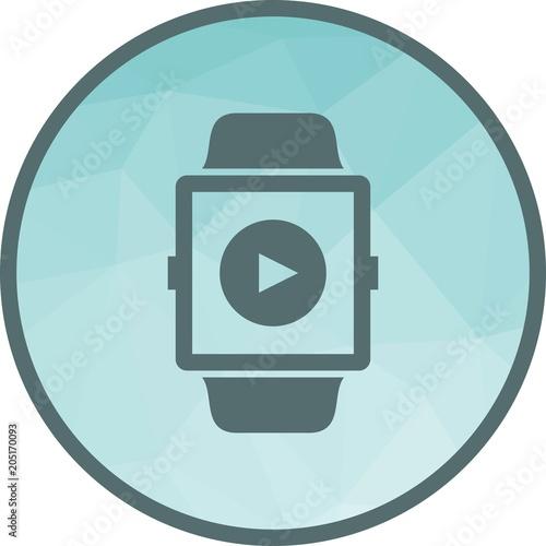 Fotobehang Muziek Video App icon