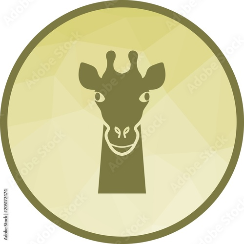 Fototapeta Giraffe Face icon