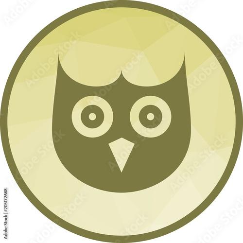 Fotobehang Uilen cartoon Owl Face icon