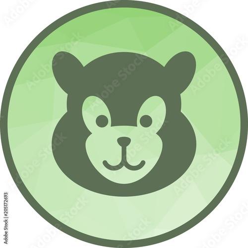 Fototapeta Panda Face icon
