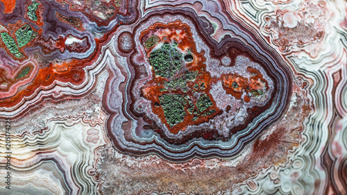 abstract pattern of agate stone. closeup detail of gemstone pattern. natural abstract geology background. - 205174225