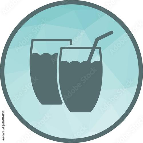 Fototapeta Drinks, juice icon