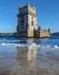 Belem tower and reflection