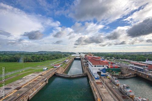 Plexiglas Spoorlijn パナマ運河