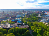 Aerial view of the oldtown in Gdansk, Poland - 205191225