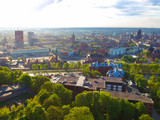 Aerial view of the oldtown in Gdansk, Poland - 205191250