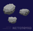 Meteor Terminology Meteoriod Vector Illustration