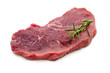 Quadro Fresh raw beef steak isolated on white.