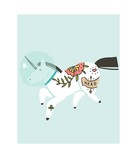 Hand drawn vector abstract graphic creative cartoon illustrations artwork with simple unicorn astronaut in helmet with old school tattoo isolated on white background - 205214461