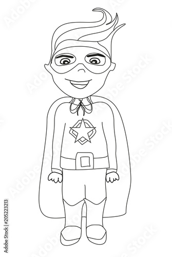 Cartoon Super hero boy - 205223213