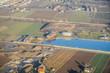 Quadro Landschaft See Häuser Strasse Luftaufnahme