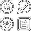 Print sosial icons for web design