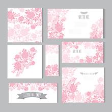 Floral Cards Set Sticker