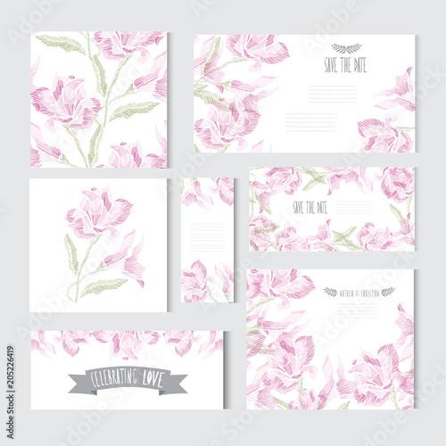 Fototapeta floral cards set