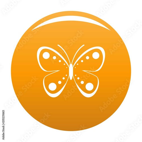 Wild butterfly icon. Simple illustration of wild butterfly vector icon for any design orange