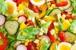 Frischer Salat von oben Nahaufnahme