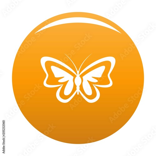 Unusual butterfly icon. Simple illustration of unusual butterfly vector icon for any design orange