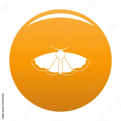 Moth icon. Simple illustration of moth vector icon for any design orange