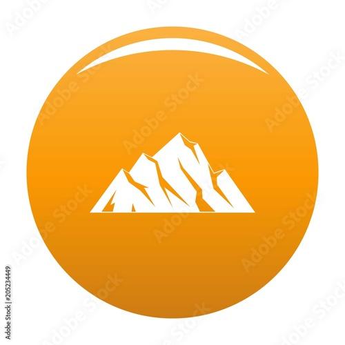Extreme mountain icon. Simple illustration of extreme mountain vector icon for any design orange