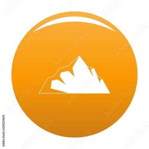 Exploration of mountain icon. Simple illustration of exploration of mountain vector icon for any design orange